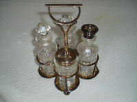 Vintage Silver-Plated Cruet/Salad Set