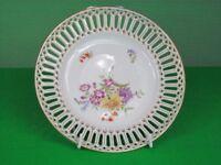 2 x Antique pierced porcelain cake plates