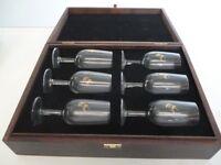Reimy Martin cognac glasesx6 boxed.
