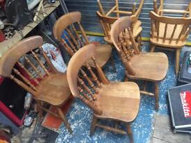 Set Of 4 Spindle backed dining chairs