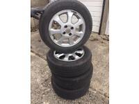 """15"""" Vauxhall alloys 1956015 tyres"""