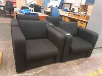 Black fabric reception seating (4 available)