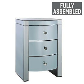 Heart of House Canzano 3 Drawer Bedside Chest - Twilight.