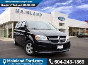 2013 Dodge Grand Caravan SE/SXT LOCAL, NO ACCIDENTS, LOW KM'S