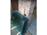 Greenhouse Glass and OTHER USES 2ft x 2ft with cuts