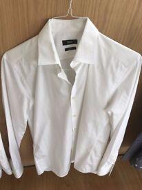 Boss Shirt - White - 15.5 inch - Slim Fit Easy Iron