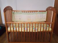A used baby cot for sale