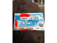 Creamfields 4 day standard camping ticket