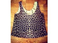 Tiger Print Crop Top - Size 12/14