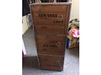 New York style bedside table