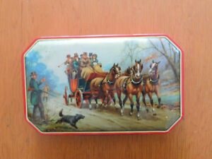 Vintage George W. Horner Toffee Candy Tin Box