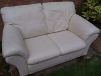 2 seat sofa good condition. Leather