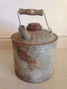 Antique GSW Slow-Ditp 2 Gallon Galvanized Can