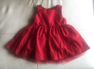 Girl's Sz. 6-12 Mo. Red Lined Layered Dress. $6.00