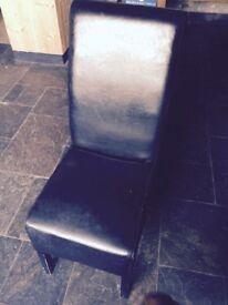 Black leatherette chair