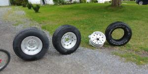 3 tires & 4 rims