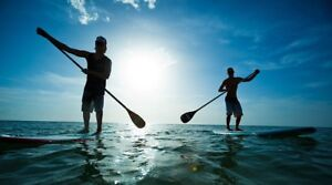 Stand-up paddle boards for rent!