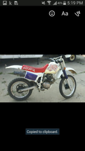 Dirt bike looking to trade for looking for a truck
