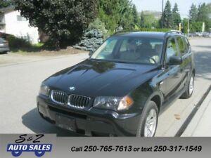 2006 BMW X3 LOW KM! FULLY LOADED! Premium PKG +++++