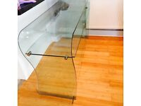 Glass desk / table / TV stand