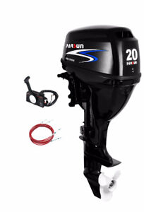 New 20 hp Parsun Outboard - Remote Controls, Electric Start