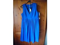 Brand New Maternity dress in Electric Blue size 14 BNWT - Shipley