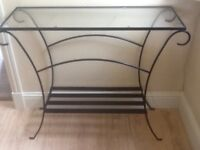 Next glass console table