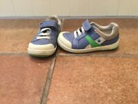 Boys Shoes - Clarks - Blue and Green Leather - Size 8 G