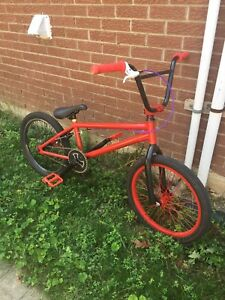Like new custom red bmx for sale - 180$