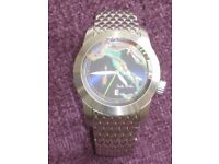 Limited edition, Paul Smith watch with beautiful map of Italy on face. Stainless steel. Hardly worn.