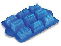 Silicone train cake mould