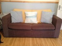 Sofa Bed (Double) Brown