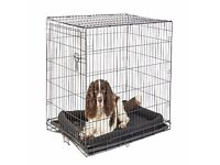 Pets at Home Single Door Dog Crate. Black. Excellent Condition. Approx 77cms x 108cms x 72cms