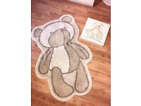 Teddy Bear Rug & Picture Canvas