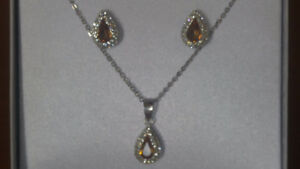 Silver & Yellow Topaz set for sale
