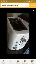White clean toaster