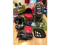 Oyster Travel System with pram/stroller, carrycot, car seat and isofix base.