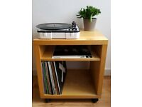 IKEA Corras side table on wheels bed side table ideal for records