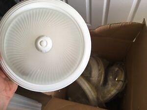 "6 BRAND NEW 12"" light fixtures"