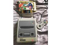 Vintage Super Nintendo games console