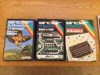 Vintage ZX Spectrum 48k SOFTWARE - Boxed MINT CONDITION GAMES.