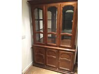 Wooden and glass display cabinet - FREE