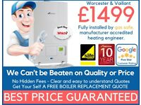Worcester & Vaillant Supply & Fit £1499/Expert Boiler Installation, Repair&Service/Gas certificate*
