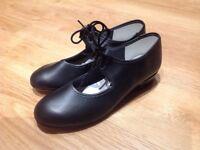 Girls Black Tap Shoes