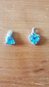 Beautiful blue topaz pendants