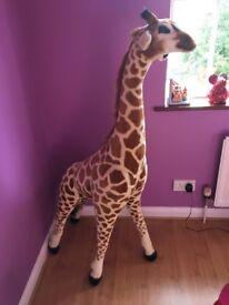 Large plush toy giraffe