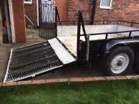 Heavy duty plant trailer