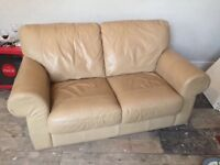2 Seater leather Sofa for sale- £80