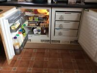 Fridge and freezer (integrated under worktop) Bosch