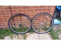700c Wheels with Tyres For Fixie, Single Speed, Hybrid, Racer Bike